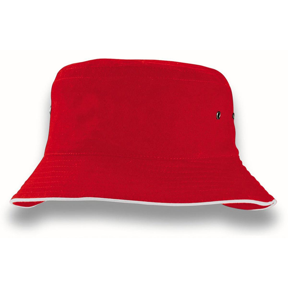 New - Black & Red Godfather Style Bucket Hat (BK17) | eBay  |Red Bucket Hat