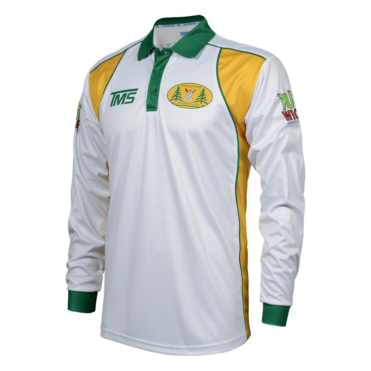 Pro Cricket Long Sleeve Polo